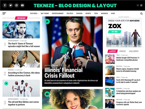 Blog design and layout