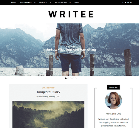 Writee Free WordPress Theme